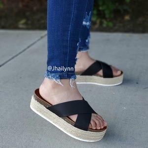 Black espadrille sandal